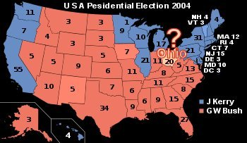 2004 USA Presidential Election map