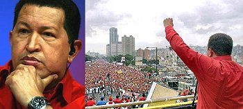 Hugo Chavez of Venezuela addresses his nation