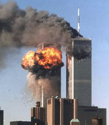 jet fuel explodes as 2nd plane strikes WTC