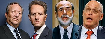 financial 4 - Summers, Geithner, Bernanke, Paulson