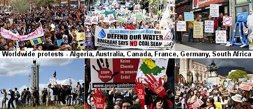 the piblic worldwide reject frackong and call for a total ban