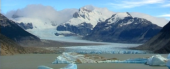 click on image for 4 minute footage of receding glacier - they are receding worldwide