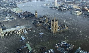 when sea levels rise, London might look like this