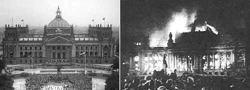 Reichstag Parliament Building, Berlin, Germany - burnt down on 27 February 1933