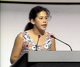 Severn Cullis-Suzuki addresses the first Earth Summit held in Rio in 1992